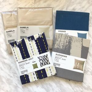 "New IKEA set of 5 cushion covers 20"" x 20"""